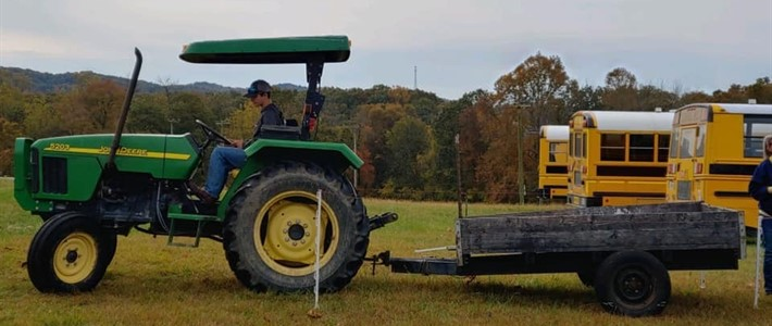 Wolfe County FFA Students participate in tractor driving competition.